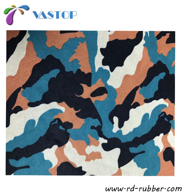 Néoprène tissu tissu au mètre étanche Camouflage Noir Camouflage