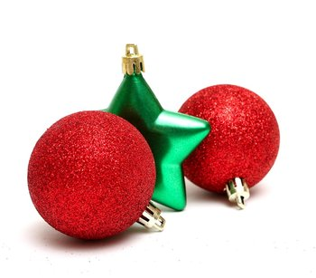 large assorted red decorated christmas ornaments bulbs balls - Red Christmas Balls