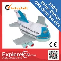 Customize stuffed plush toy airplane Vehicle theme park