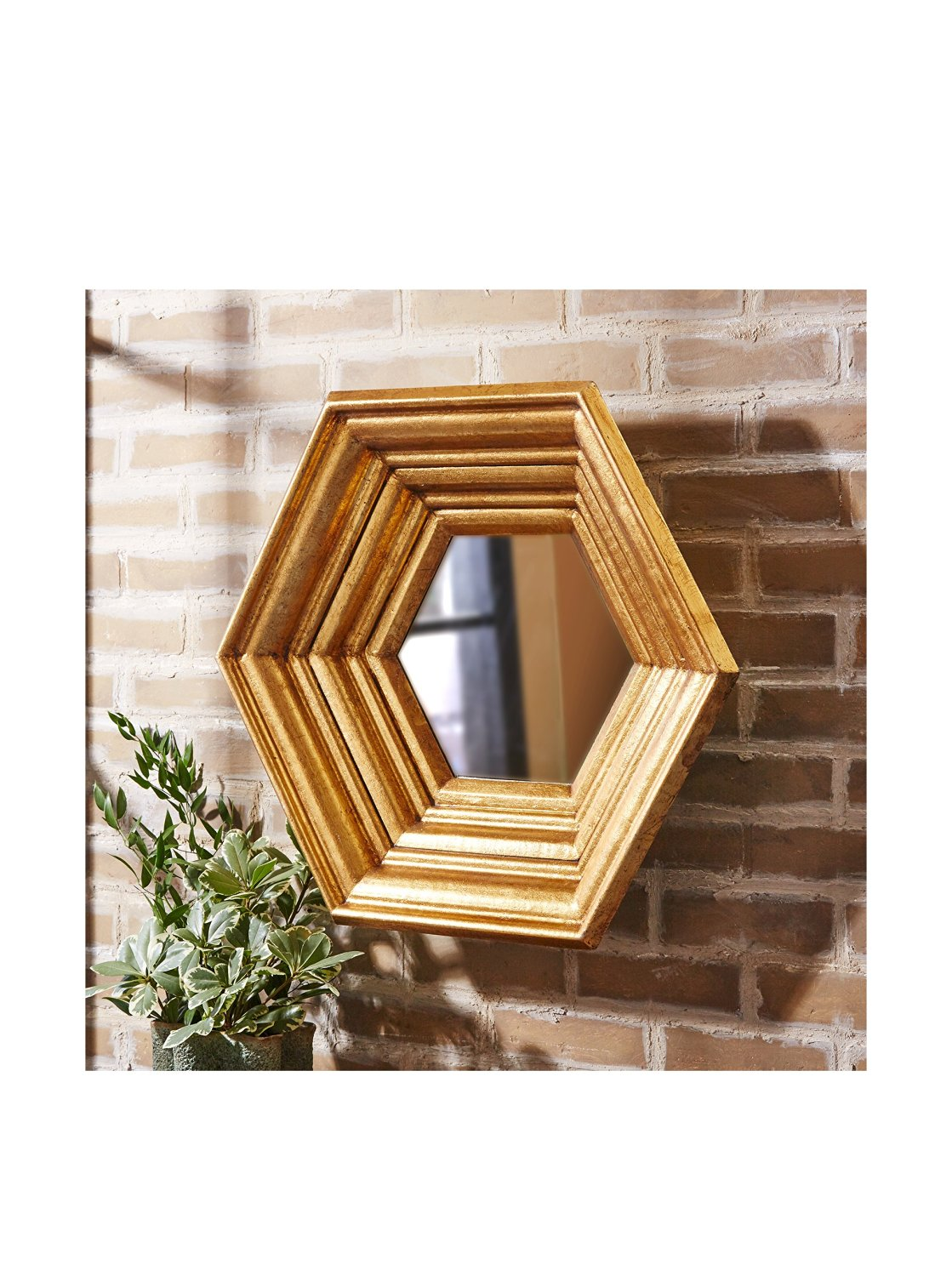Tozai Oculus Antique Gold Wall Mirror