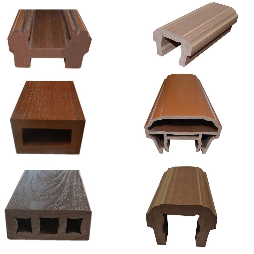 Hospital Handrail Teak Texture Vinyl Handrail Pvc