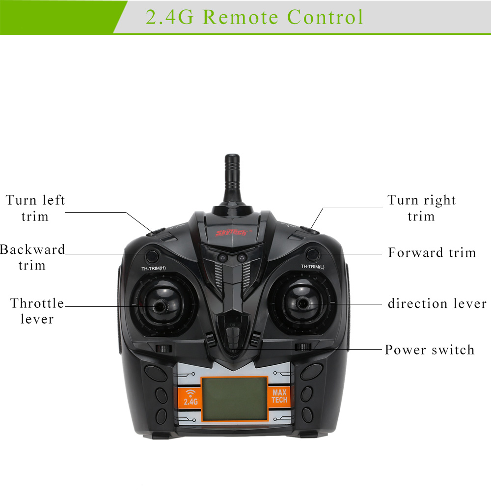 Skytech H101 Rc Motor Boat For Kids 24g 4 Channel Remote Control Radio Controlled Electric Switch R C 180 Degree Flip