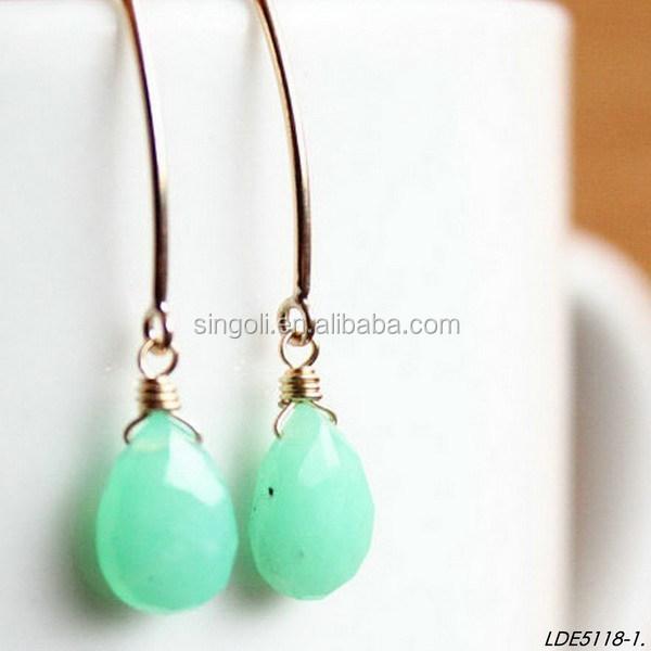 Boucles d'oreilles vert d'eau