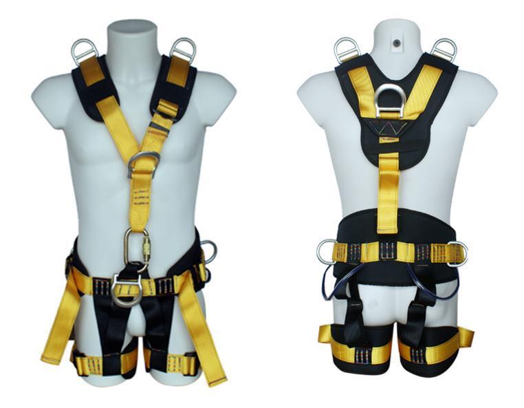Safety Lineman polyester lifeline full body security safety belt harness