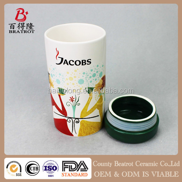 Handcraft decoration home ceramic coffee canister