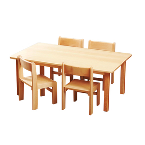 Preschool Wooden Furniture Children's Table and Chairs