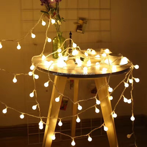 LED IP44 waterproof warm white globe ball christmas motif fairy string tree light for indoor decoration party wedding Halloween