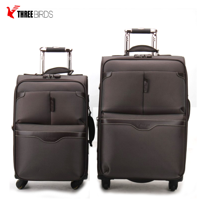 8286f25b5696 Best Four Wheels Carry On Travel Luggage Bags Air Express 3 Pieces ...