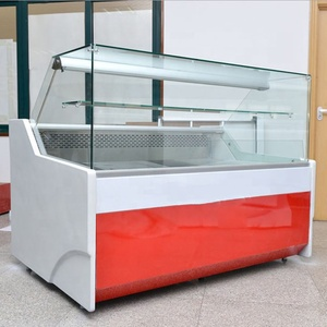 supermarket Meat refrigerator display butchery meat chiller showcase