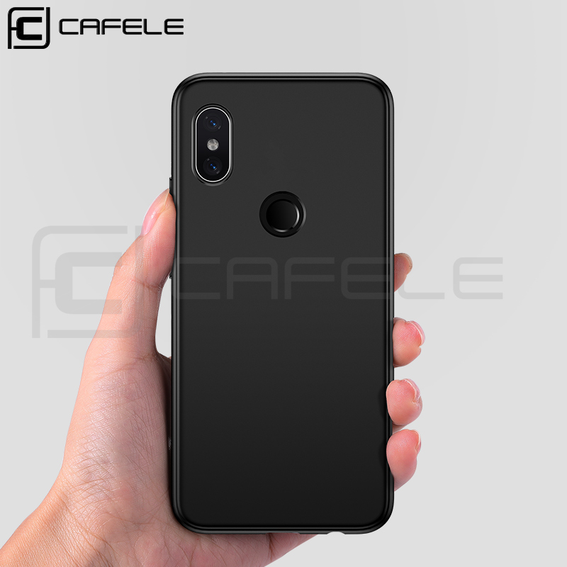 CAFELE 6.25 inch mobile phone case saffiano cell blank phone case mobile phone carbon TPU protection for Redmi Note 6 Pro
