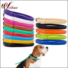 Super comfy collars for dog Cute Rolled Leather Dog Collar