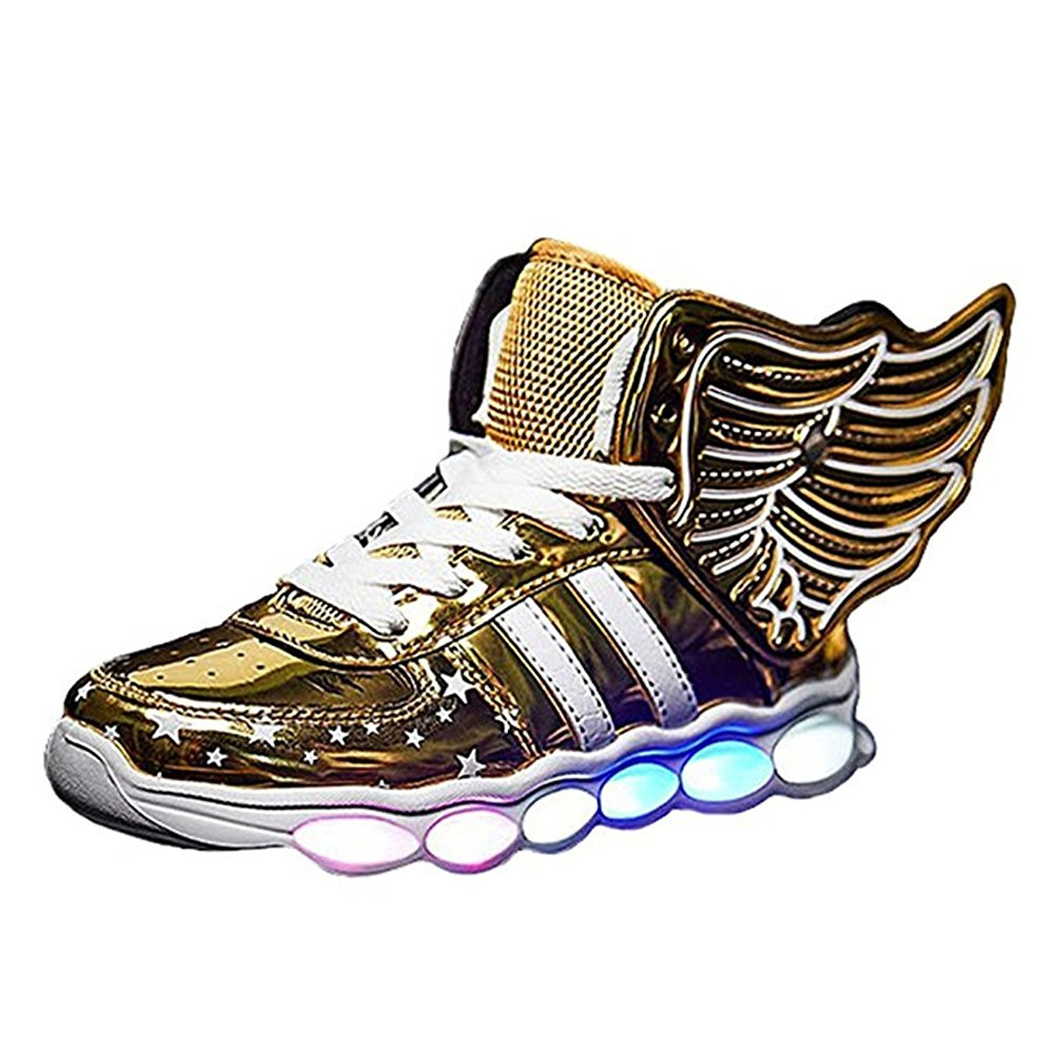 Kids Wings LED Light Up Shoes USB Rechargeable Dances Sneaker for Boys Girls (Toddler/Little Kid/Big Kid)