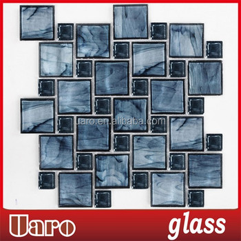 Natural Blue Mix Crystal GlassKitchen Backsplash Tile Modern Mosaic Beauteous Modern Mosaic Tile Backsplash