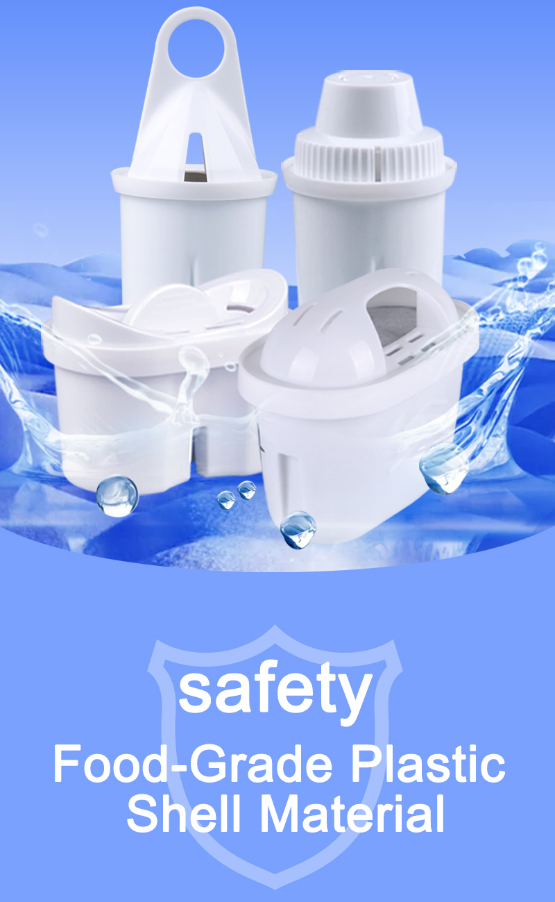 Top sale 99% removal chlorine water cartridge alkaline water filter pitcher compatible for JFC001