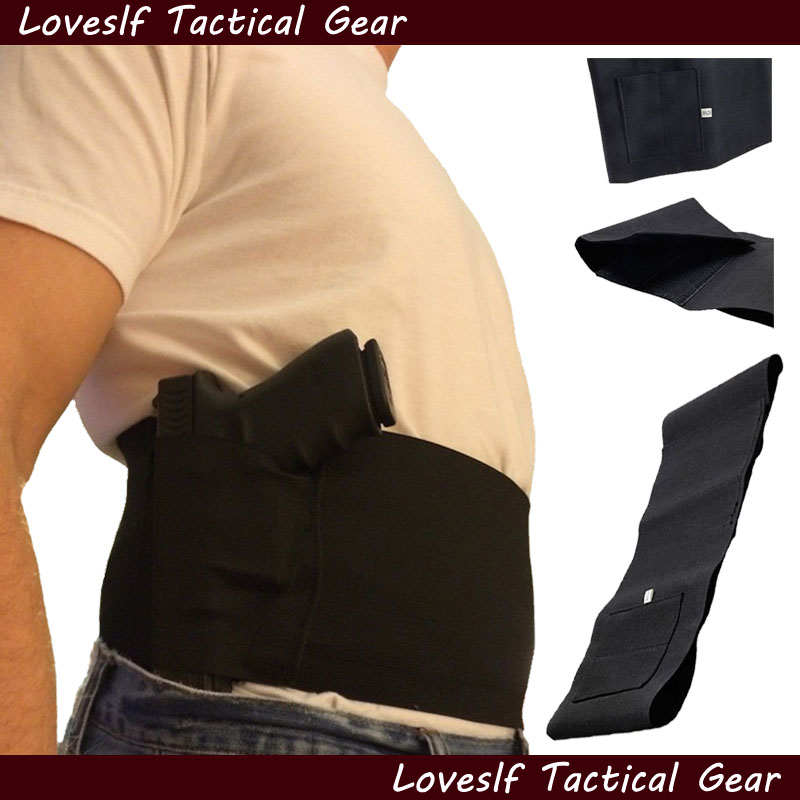 Loveslf factory supply adjustable waist gun holster with double magazine pouches <strong>fitness</strong> band