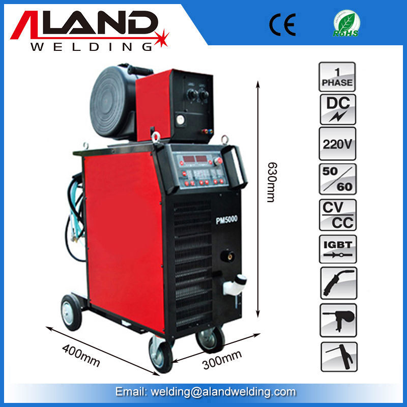 Offer High Quality Double Pulse PM5000 MIG MAG Water Cooled Welding Machine
