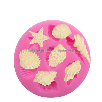 Conch Snail Silicone Fondant Soap 3D Cake Mold Cupcake Jelly Candy Chocolate Decoration Baking Tool