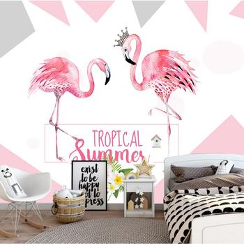 Chinese Design Artistic Cute Flamingo Wall Decor Wallpaper Buy
