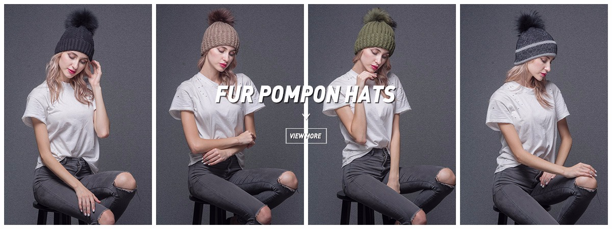 59c695eee42 1 PCS Sale Dropshipping Stock Quick Order 100% Wool Rib Knit Beanie with  Fur Pom Pom