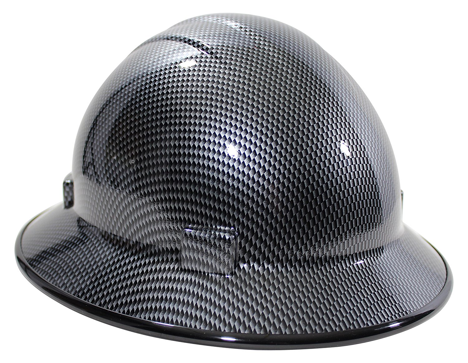 a153b9cf195 HardHatGear Custom Hydro Dipped Full Brim NON VENTED Hard Hat in  Carbon  Fiber Design