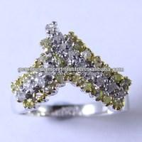 Natural Uncut Rough Diamonds Rings at Wholesale