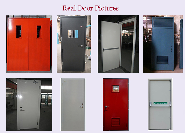 Single Bangladesh Size Fireproof Emergency Doors With Fire