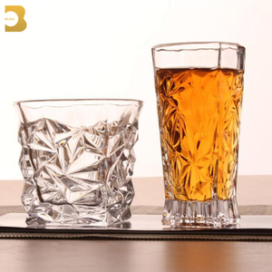 Lead Free Crystal drinking glassware 300ml diamond wine whisky glass