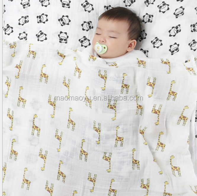 Hot sales newborn baby gift muslin swaddle blankets baby