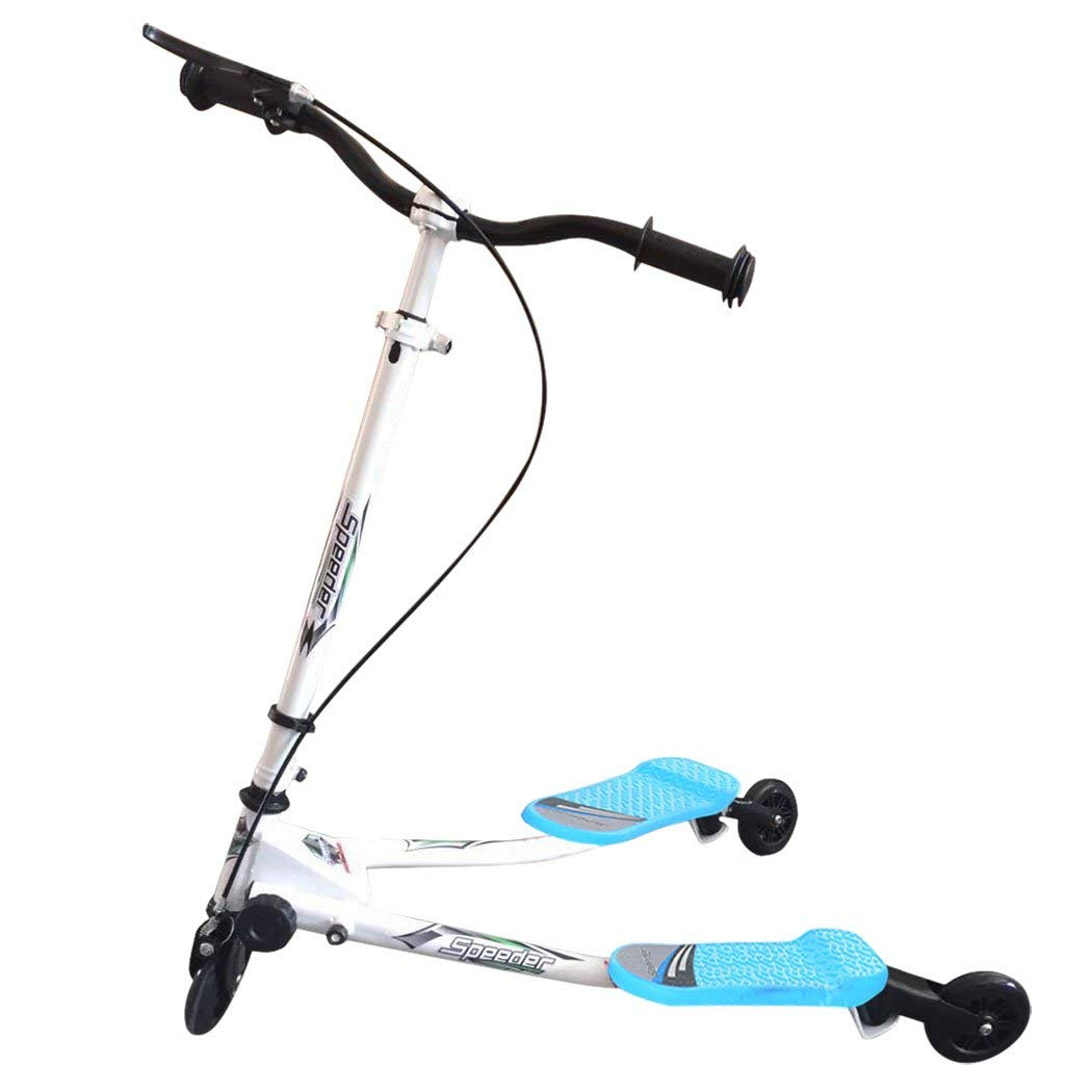 581fe1c6ba3b2 Get Quotations · Yuanne Kids Y Fliker Folding Fliker 3 Wheel Scooter for  above 5 Years(US STOCK