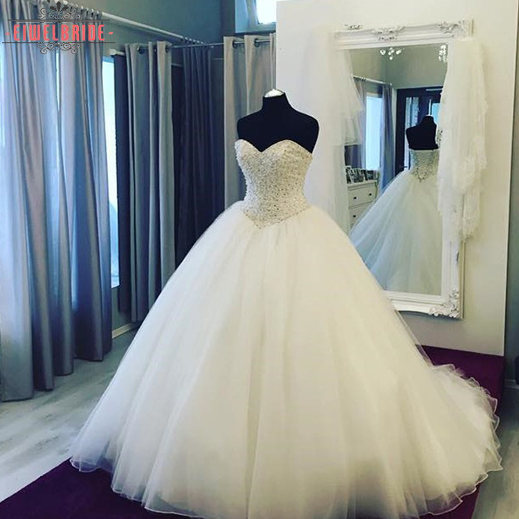 Best Price Latest Simple Sparkly Crystals Beaded Top Sleeveless Wedding Dress