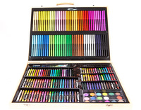 Art Supply 251Piece-Premium Mega Wood Box Art Set Painting & Drawing Set That Contains All The Additional Supplies