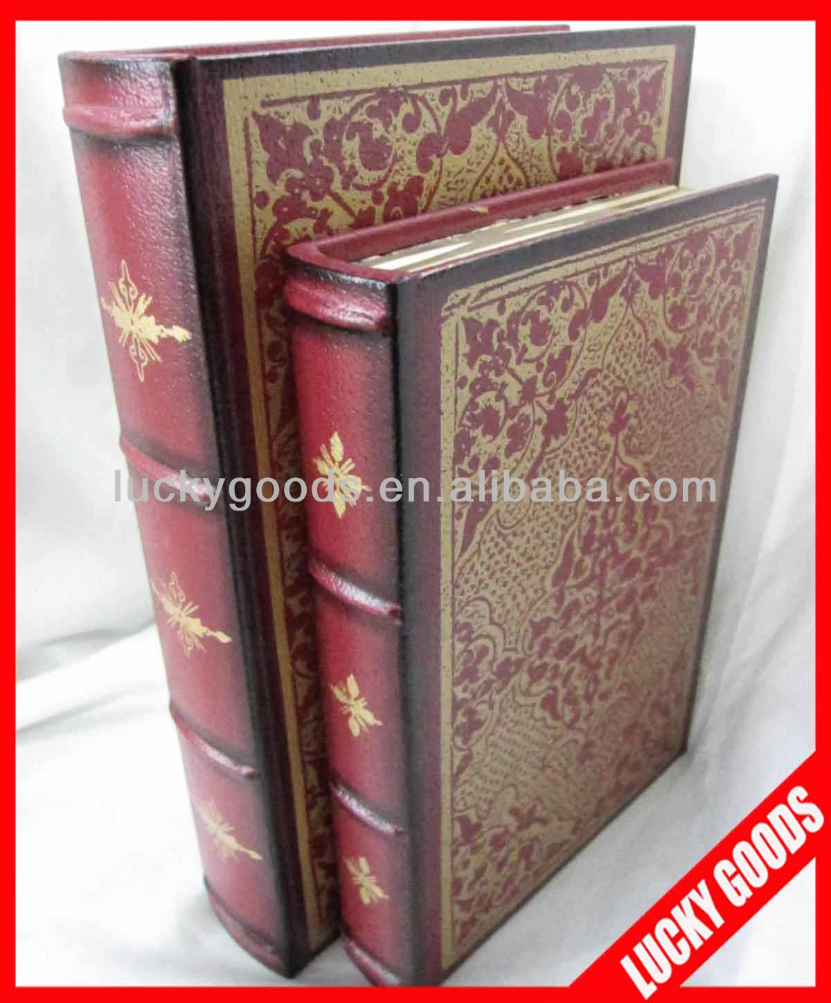 decorative book shaped antique book boxes wholesle