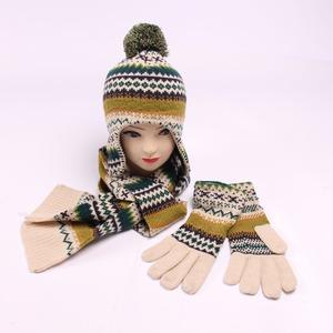 f21251906d858 Women Hat Glove Scarf Set
