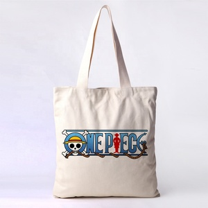 customized Cheap eco silk screen printing logo reusable canvas cotton tote bag with pocket