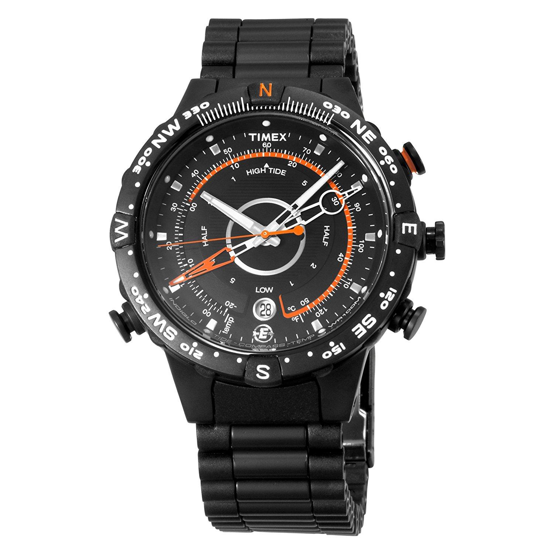 Get Quotations · Timex Men's T49709 E-InstrumentsTM Black Case and Black IP  Bracelet E-Tied-