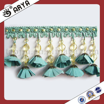 Green Butterfly Style Curtain Lace Trim Fringeused For Vases