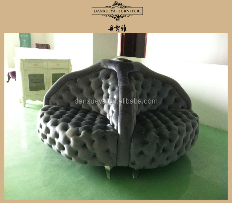 Round Lobby Sofa Waiting For Salon - Buy Lobby Sofa,Classic Round ...