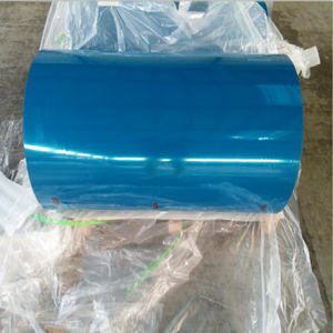 Chinese clear bule pet film for self-adhesive waterproof roll