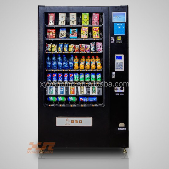 combo vending machine with elevator 6 trays with 60 selections