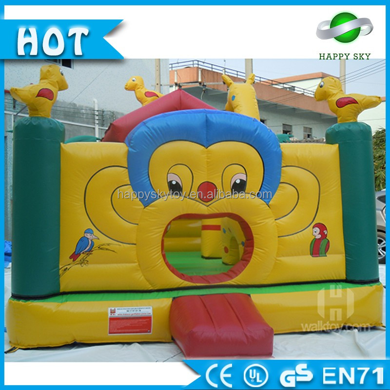 High Quality Inflatable Monkey Jumping Castle, outdoor inflatable bouncer, InflatIable animal bounce house for sale