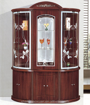 Wooden Antique Bar Cabinet Living Room Cabinets Glass Wine Bar