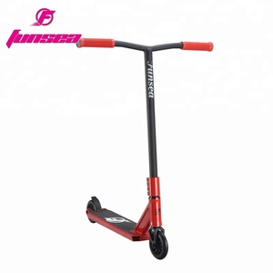 Fashion red stunt freestyle street bmx scooter big wheel trick kick scooter for kids adult men women