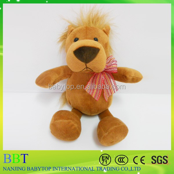 super soft jungle animals plush stuffed toy lion for crane machine promotional toys