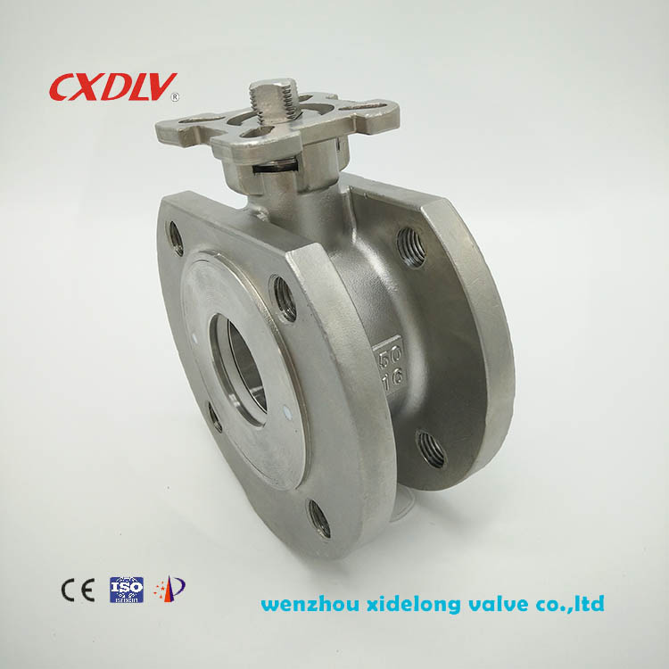 Q71 1PC flanged ball valve with direct mount