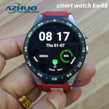Kingwear KW88 MT6580 Quad Core 1.39 Inch Amoled 400*400 3G Calling Smart Watch Pedometer GPS Camera