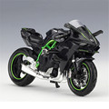 Maisto 1 18 Kawasaki Ninja H2R Motorcylce Model With Removable Base Diecast Moto Children Toy Collections