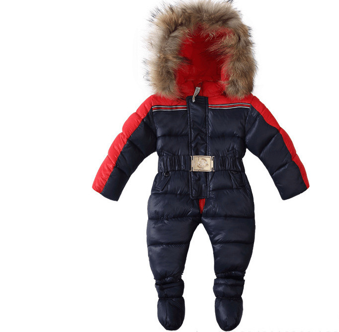 889cae8ac Wholesale Baby Winter Overalls For Boys Hooded Baby Clothes Rompers ...