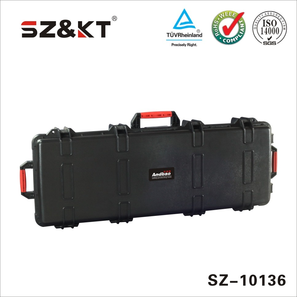 Pad lockable plastic instrument carring case