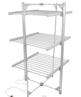 3-Tier Folding Portable Electric Heated Clothes Drying Rack