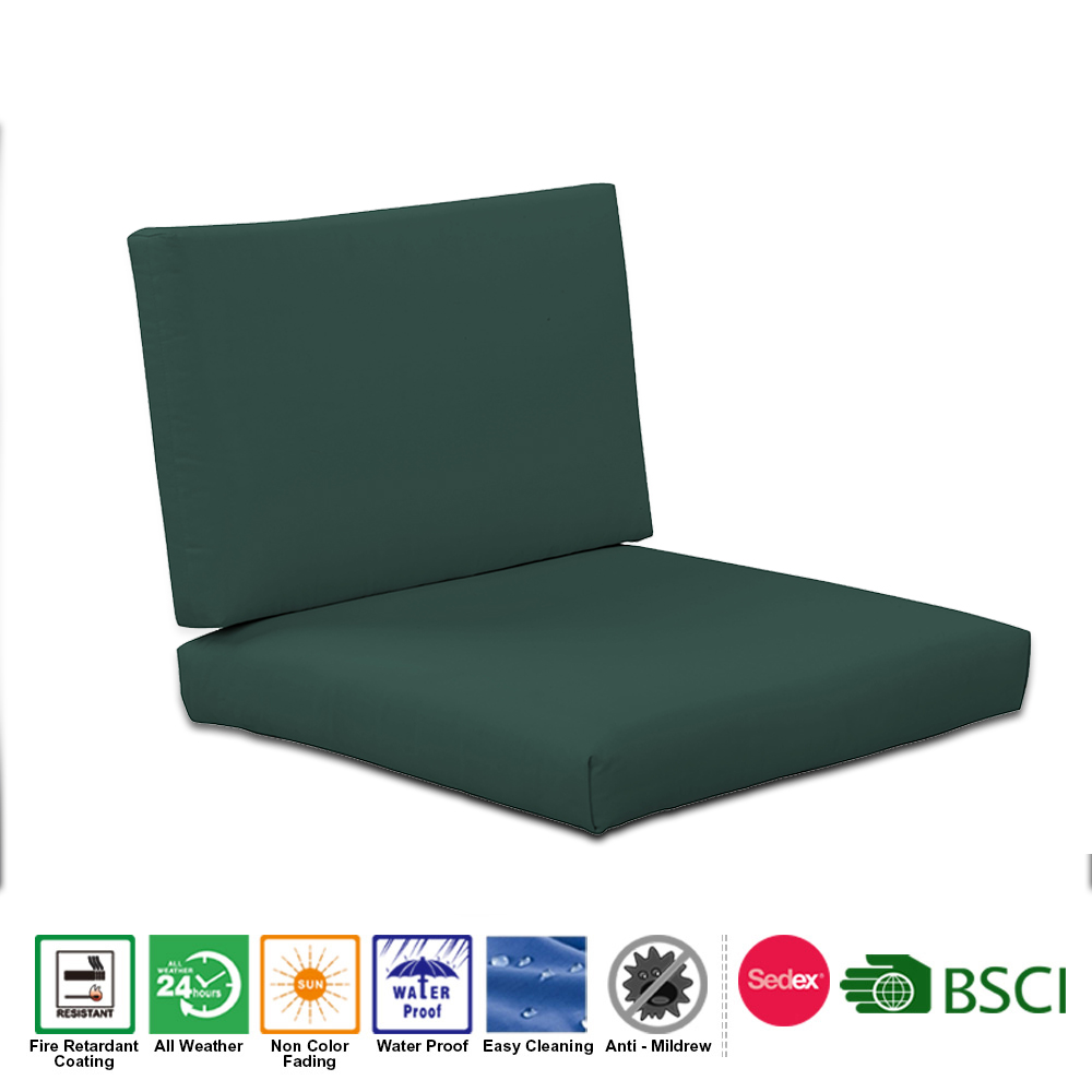 Patio Deep Seat Chair Cushion Set Including Backrest Seat Cushion for Garden Outdoor Furniture
